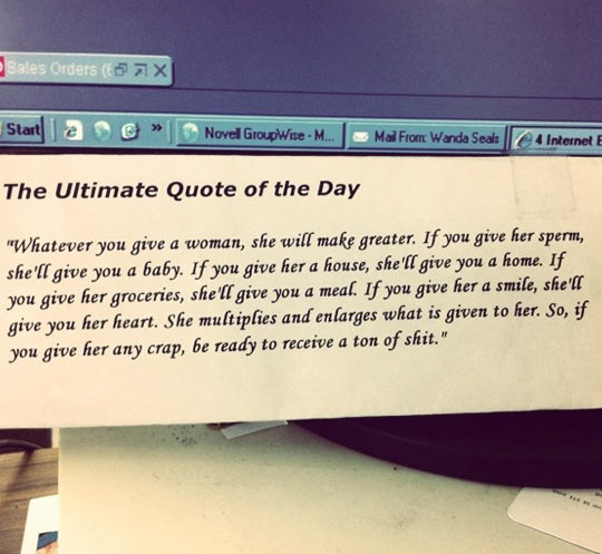The ultimate quote of the day…