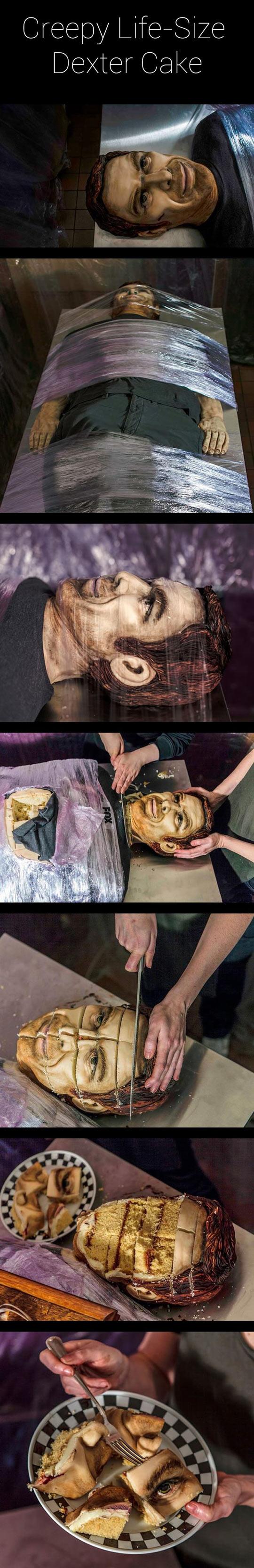 Creepy life size Dexter cake…
