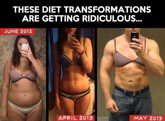 Diet transformations…