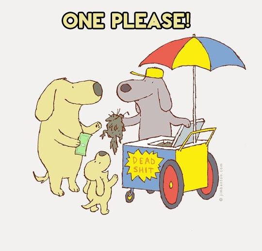 funny-dog-food-cart-cartoon