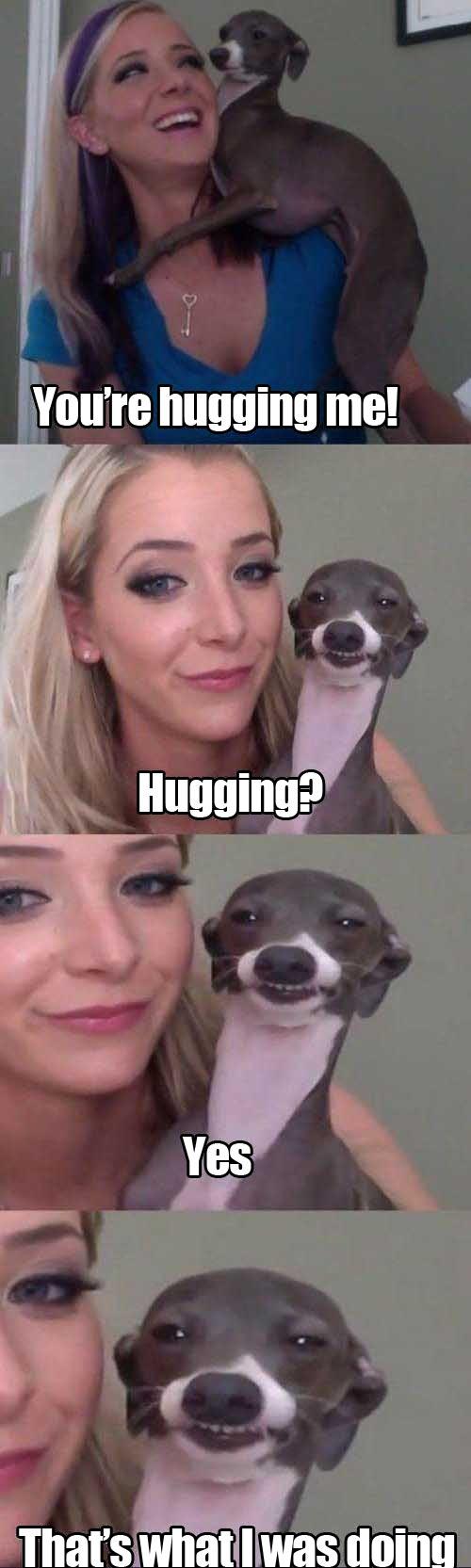 funny-dog-woman-hugging-shoulder