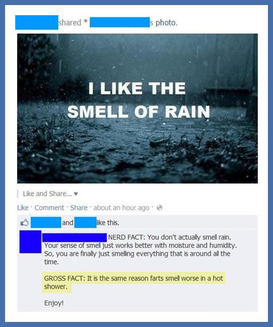 I like the smell of rain…
