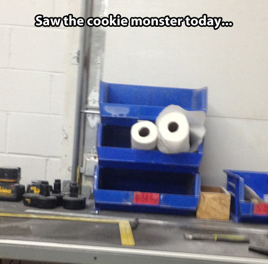 Today I saw the Cookie Monster…