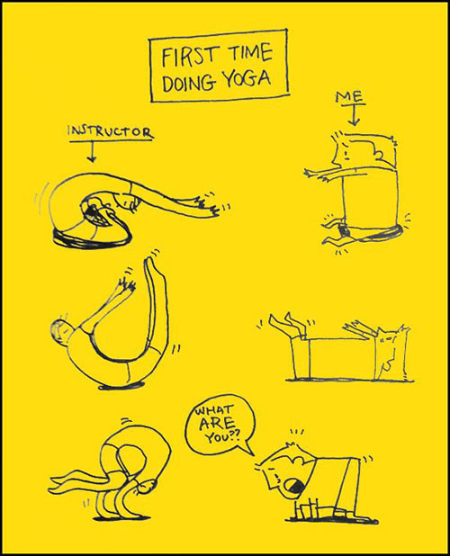 First time in yoga class…