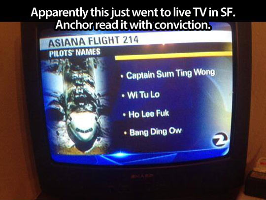 Apparently this just went to live TV in SF...