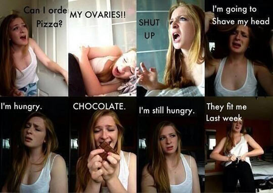 Girls on their period…