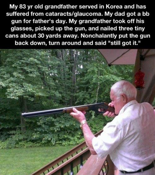 Grandpa still has it…