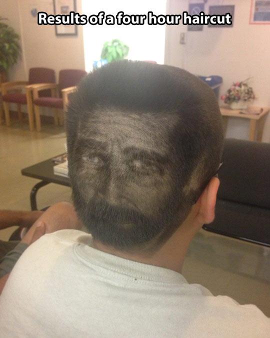 Four hour haircut…