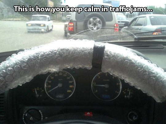 How to keep calm in traffic jams…