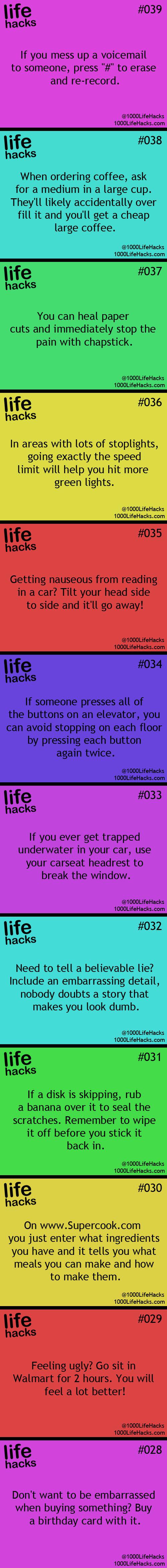 25 Useful Life Hacks...
