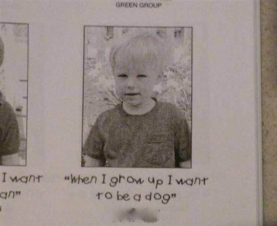 This kid dreams big…