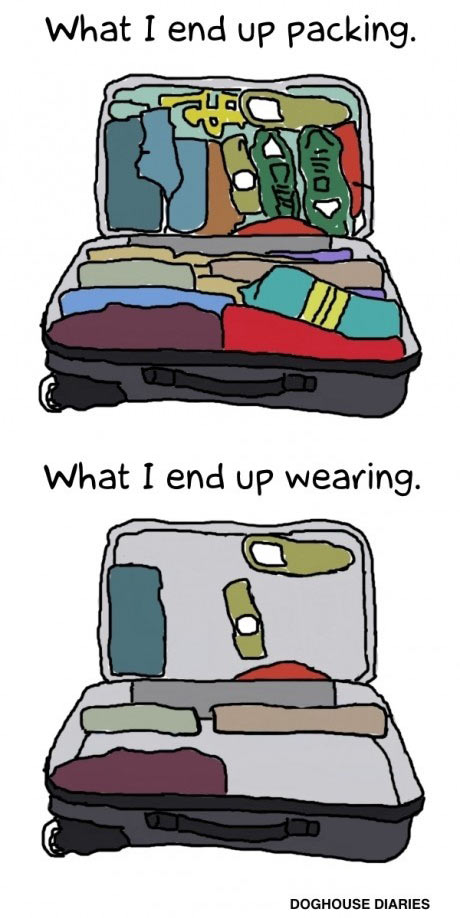 Packing before a trip…