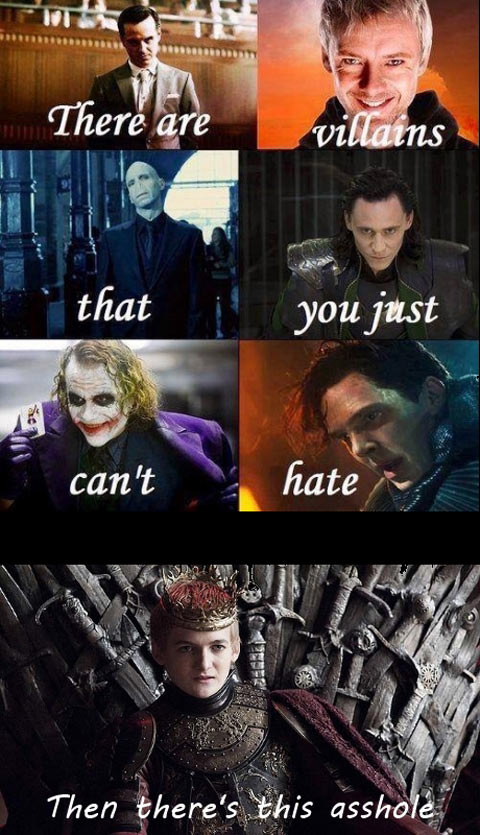 Different types of villains…