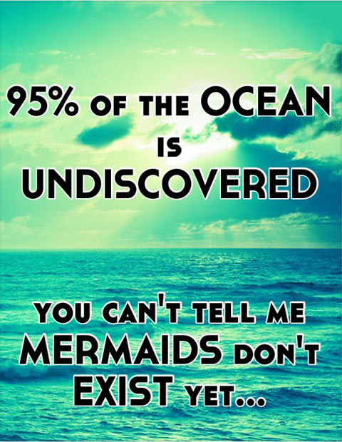 95% of the OCEAN is undiscovered…