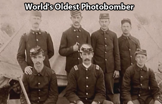 The Oldest Photobomber…