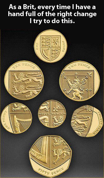 British coins…