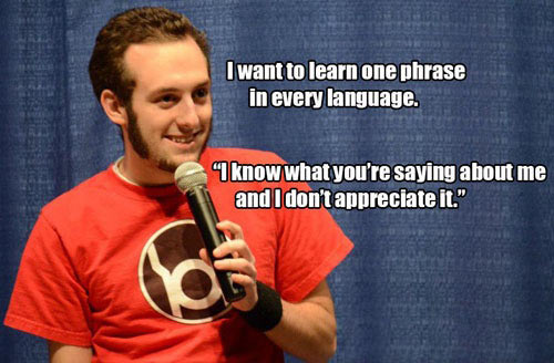 One phrase in every language…