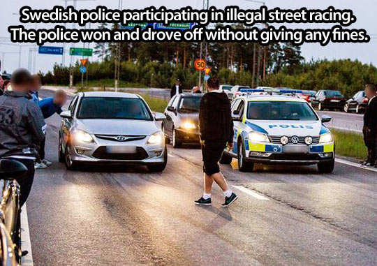 Swedish police know how to have fun…