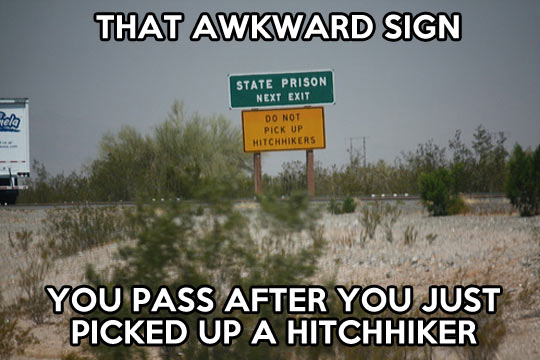 Awkward sign…