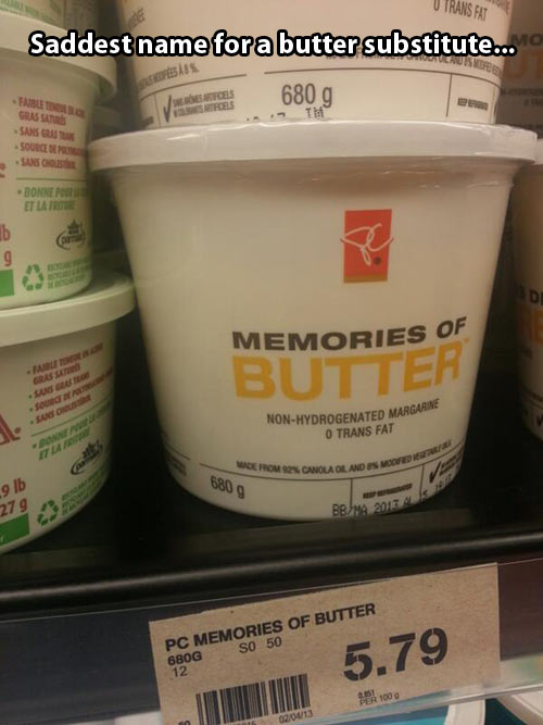 Memories of butter days…