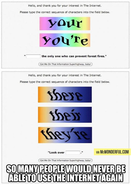 A test for everyone who starts using the Internet…
