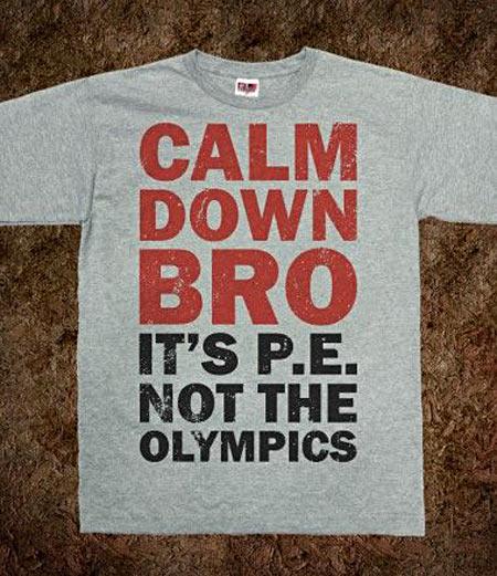 Calm down bro…