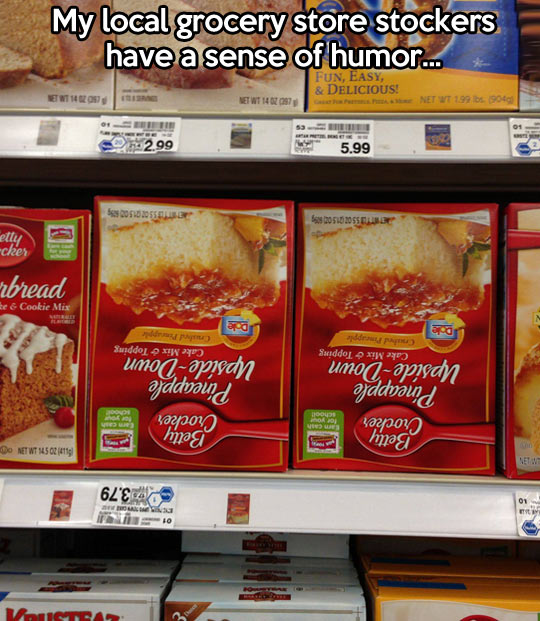 Grocery store with a sense of humor…