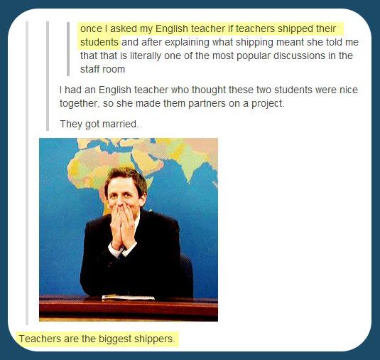 Every teacher's hidden talent…