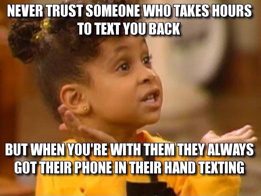 Never trust those people…