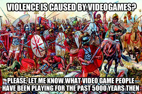 To those who blame video games…