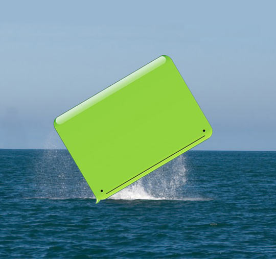 And here we see a whale in its natural habitat…