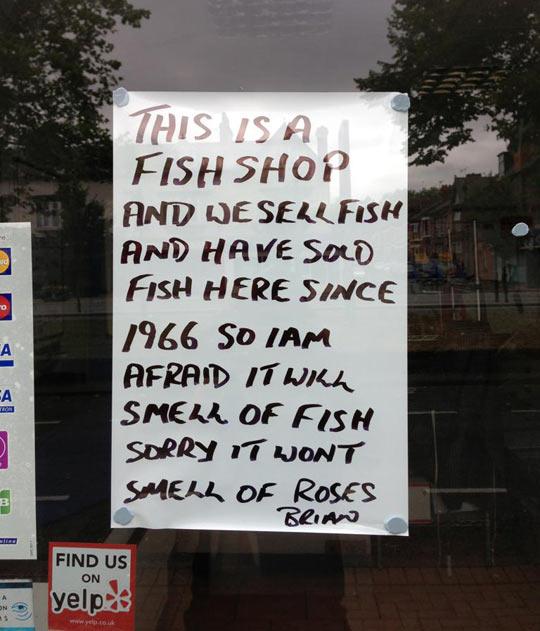Fishmonger gets real…