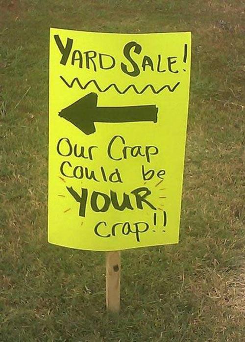 Yard sale…