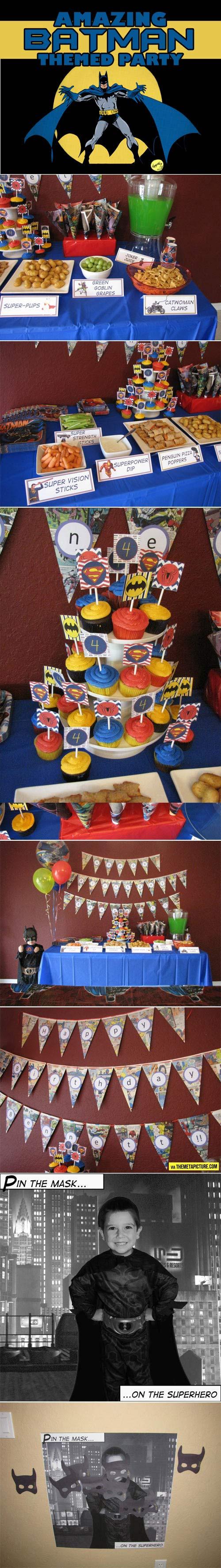 Amazing Batman themed birthday…