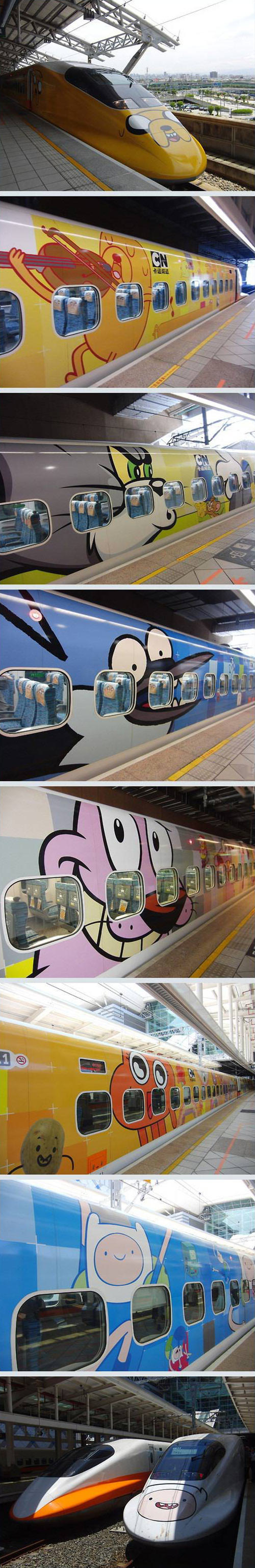 The world's first Cartoon Network themed train in Taiwan…