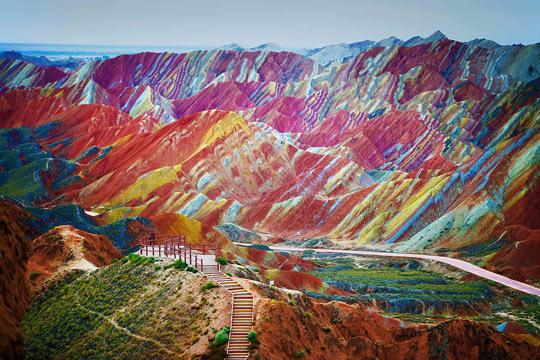 China's Rainbow Mountains…