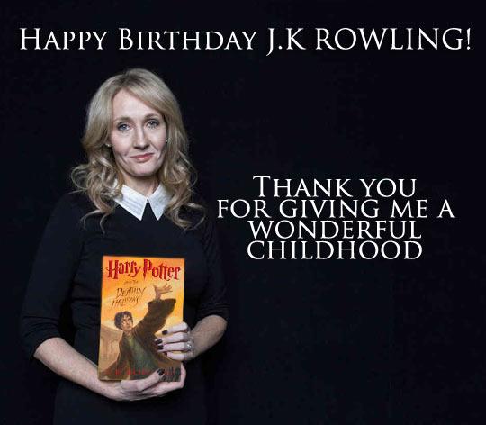 Happy Birthday, JK Rowling…