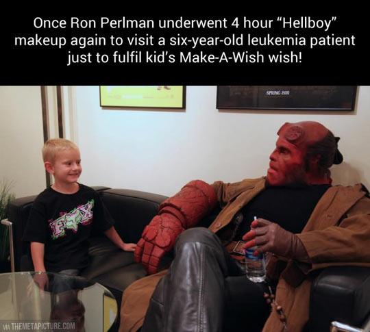 Good guy Ron Perlman…