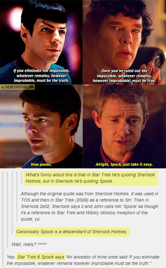Sherlock Holmes and Spock