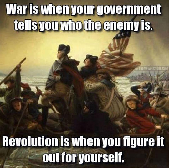 Difference between war and revolution…