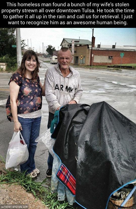 Good guy homeless man…