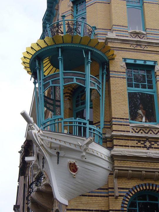 A balcony in Antwerp…