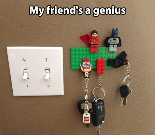 Lego key holder…