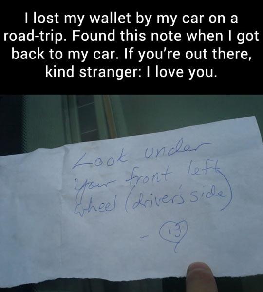 Kind stranger…