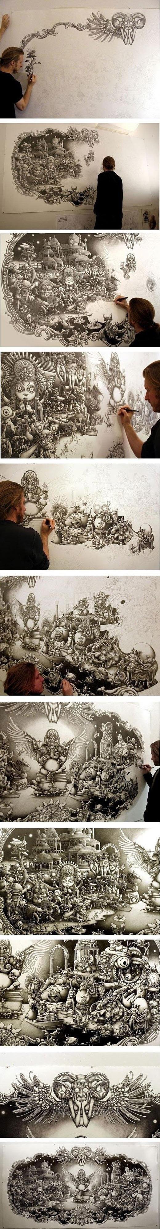 Amazing pencil art…