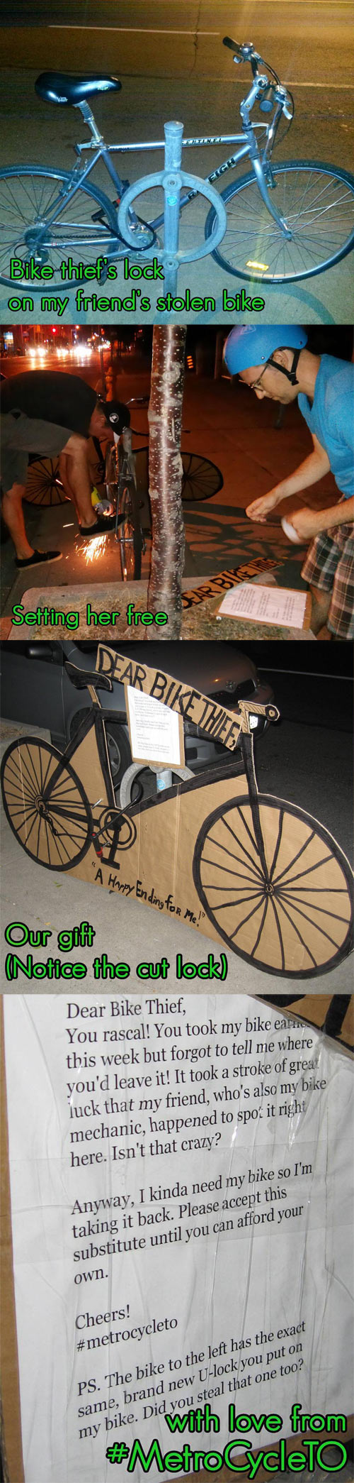 Dealing with a bike thief…