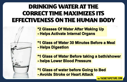 Drinking water is important…