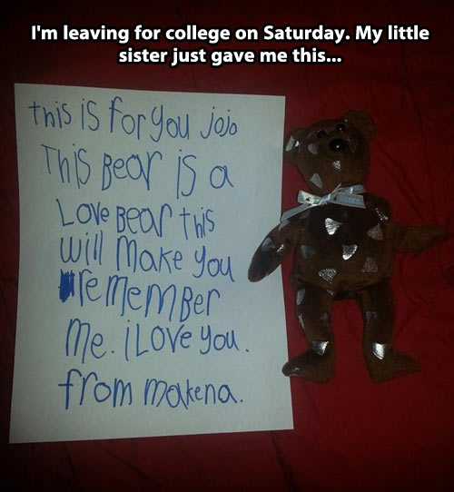 Awesome little sister…