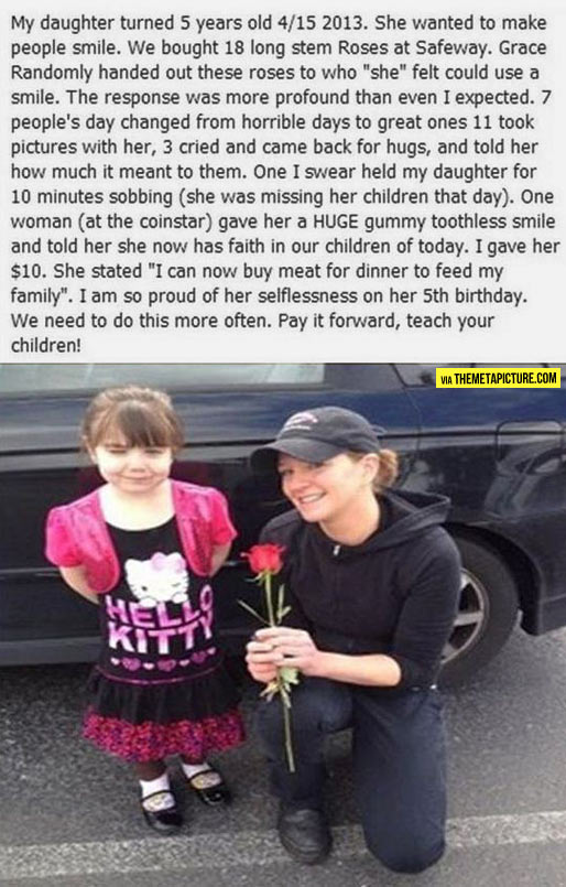 Little girls like these make the world a better place…
