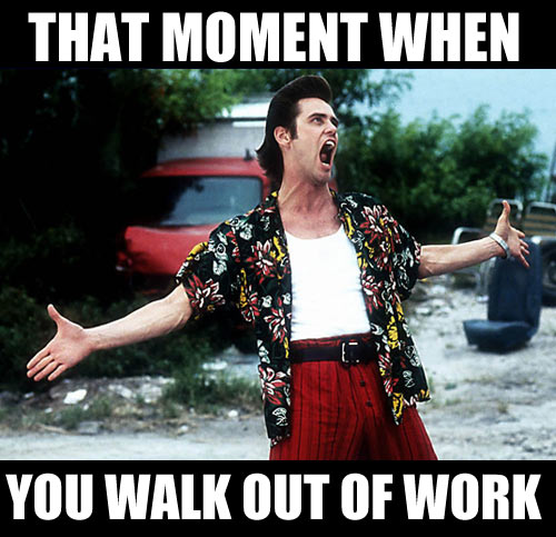 Walking out of work…